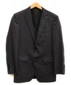 BURBERRY BLACK LABEL(バーバリーブラックレーベル)の古着「テーラードジャケット&ベスト」|グレー×ピンク