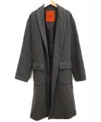 ROSSO(ロッソ)の古着「メルトンラップコート」|グレー
