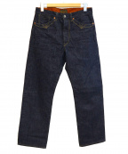 Stevenson Overall Co.(スティーブンソンオーバーオール)の古着「セルビッチデニムパンツ」|インディゴ