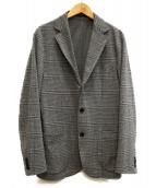 UNITED ARROWS(ユナイテッドアローズ)の古着「グレンプレイド ジャージー ジャケット」|グレー
