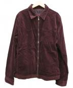 roar(ロアー)の古着「ベロアジップジャケット」|ワインレッド