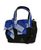 LANVIN en Bleu(ランバンオンブル)の古着「マリアンヌ2WAYトートバッグ(M)」|ブラック