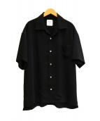 UNITED TOKYO(ユナイテッドトウキョウ)の古着「サテンオープンカラーシャツ」 ブラック