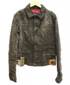 DOLCE & GABBANA(ドルチェアンドガッバーナ)の古着「デニムジャケット」|ブラック