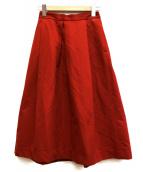 BEAUTY&YOUTH(ビューティーアンドユース)の古着「グログランタックロングスカート」|レッド