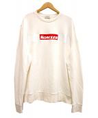 MONCLER(モンクレール)の古着「19AW BOXロゴスウェット」|ホワイト