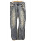 DOLCE & GABBANA(ドルチェアンドガッバーナ)の古着「ダメージ加工デニムパンツ」|インディゴ