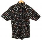 BURBERRY BLACK LABEL(バーバリーブラックレーベル)の古着「モノグラム柄半袖シャツ」|ブラック