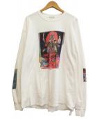 FLAGSTUFF(フラッグスタッフ)の古着「19SSプリントカットソー」|ホワイト