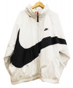 NIKE(ナイキ)の古着「ビッグスウォッシュアノラック ジャケット」|ホワイト