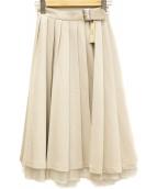 EATME(イートミー)の古着「プリーツラップスカート」|ベージュ