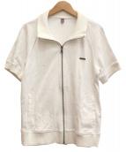 BURBERRY BLACK LABEL(バーバリーブラックレーベル)の古着「半袖ジップスウェット」|ホワイト