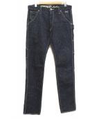 VANSON(バンソン)の古着「ペインターデニムパンツ」|インディゴ