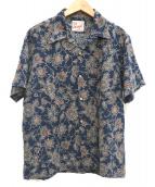 STUDIO DARTISAN(ステュディオ・ダ・ルチザン)の古着「オープンカラーシャツ」 ネイビー