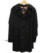 BURBERRY LONDON(バーバリーロンドン)の古着「裏地チェックシルク混トレンチコート」|ブラック