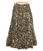 MARIHA(マリハ)の古着「草原の虹のスカート」|ブラウン