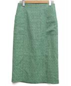 martinique(マルティニーク)の古着「サマーツイードタイトスカート」|グリーン
