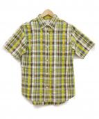 KATO(カトー)の古着「半袖チェックシャツ」|イエロー