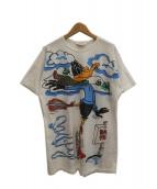Joche Arden(ジョシュアーデン)の古着「[古着]80sプリントTシャツ」 ホワイト
