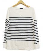 Le minor(ルミノア)の古着「バスクシャツ」 ホワイト×ネイビー