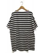 Traditional Weatherwear(トラディショナル ウェザーウェア)の古着「ボーダーマリンハーフスリーブチュニック」 ホワイト×ブラック