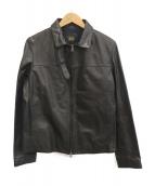 Cinquanta(チンクアンタ)の古着「シングルレザージャケット」|ブラック
