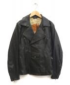 Paul Smith COLLECTION(ポールスミスコレクション)の古着「ラムレザーライダースジャケット」|ブラック