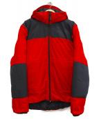 THE NORTH FACE RED LABEL(ザ ノースフェイス レッドレーベル)の古着「ヌプシダウンメガ パーカー」 ブラック×レッド