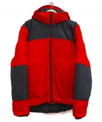 THE NORTH FACE RED LABEL(ザ ノースフェイス レッドレーベル)の古着「ヌプシダウンメガ パーカー」|ブラック×レッド