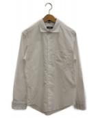 BLACK LABEL CRESTBRIDGE(ブラックレーベルクレストブリッジ)の古着「リネン混ドレスシャツ」 ホワイト