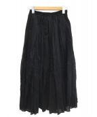 IENA(イエナ)の古着「コットンボイルギャザーパネルスカート」 ブラック