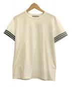 BORDERS AT BALCONY(ボーダーズアットバルコニー)の古着「ボーダーカフスTシャツ」 ホワイト