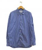 bractment(ブラクトメント)の古着「トーマスメイソンルーズワイドカラーストライプシャツ」|ブルー