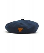 IL BISONTE(イルビゾンテ)の古着「リネン混ベレー帽」|ネイビー