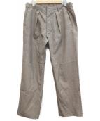 LIDnM(リドム)の古着「クラシカルワイドチェックパンツ」 グレー