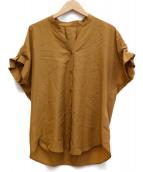journal standard Lessage(ジャーナルスタンダード レサージュ)の古着「タックスリーブシャツ」 ブラウン