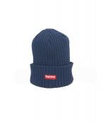 Supreme(シュプリーム)の古着「スモールボックスロゴニット帽」|ネイビー