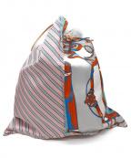 manipuri(マニプリ)の古着「コンビスカーフトートバッグ」 マルチカラー