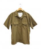BURLAP OUTFITTER(バーラップアウトフィッター)の古着「キャンプシャツ」|カーキ