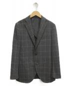 THE SUIT COMPANY(ザスーツカンパニ)の古着「チェックテーラードジャケット」|グレー