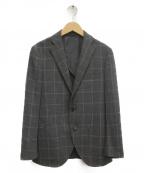 THE SUIT COMPANY(ザ・スーツカンパニー)の古着「チェックテーラードジャケット」|グレー