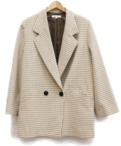 moussy(マウジー)moussy (マウジー) クラシックオーバージャケット ベージュ サイズ:FREEの古着・服飾アイテム
