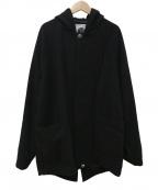 pretty green(プリティーグリーン)の古着「フーデッドコート」|ブラック