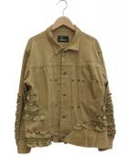 BEAMS BOY(ビームスボーイ)の古着「デニムフリルジャケット」|ベージュ