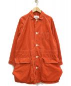 BEAMS BOY(ビームスボーイ)の古着「ダックワークオーバーコート」|レッド