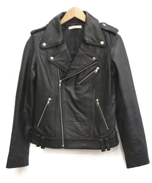 Ungrid(アングリッド)Ungrid (アングリッド) ダブルライダースジャケット ブラック サイズ:Sの古着・服飾アイテム