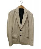LIUGOO TOKYO(リューグーレザーズ)の古着「レザーテーラードジャケット」|ホワイト
