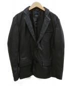 FILLMORE(フィルモア)の古着「レザーテーラードジャケット」|ブラック
