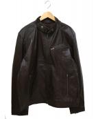 LIUGOO LEATHERS(リューグーレザーズ)の古着「レザージャケット」|ブラウン