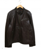 LIUGOO LEATHERS(リューグーレザーズ)の古着「レザージャケット」 ブラウン